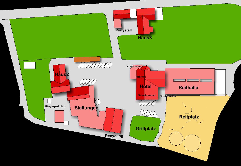 Lageplan Hotel Reiterhof Altmühlsee