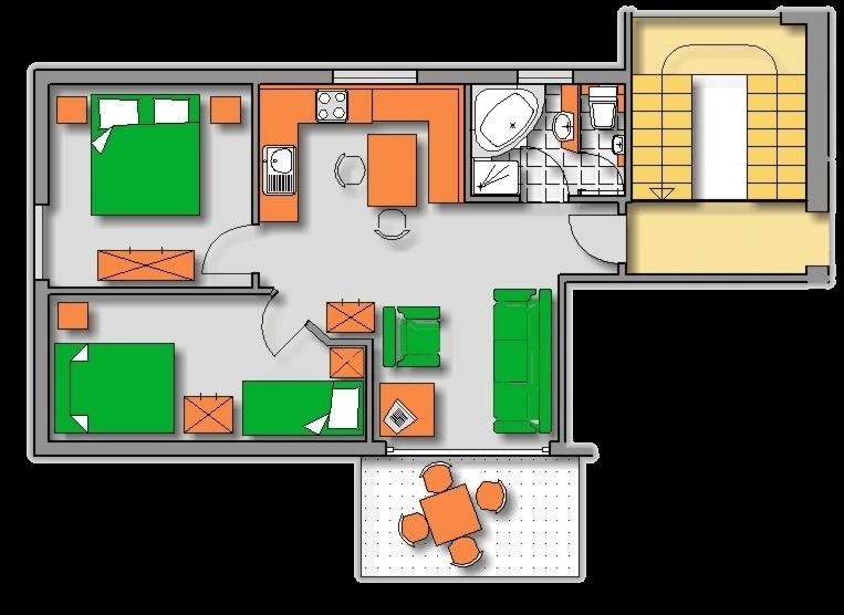 Lageplan Haus 2 Dachgeschoss Ferienwohnung 7