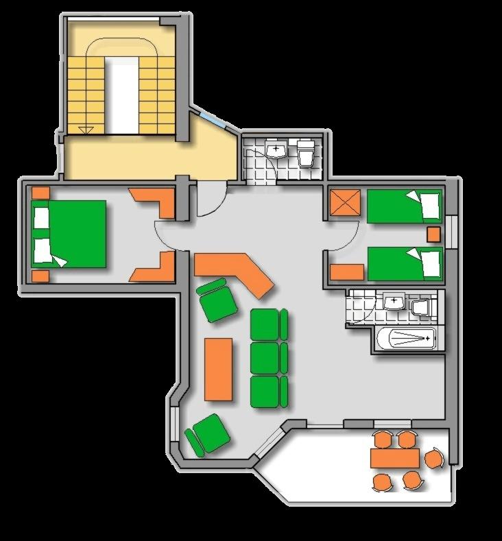 Lageplan Haus 2 Dachgeschoss Ferienwohnung 8