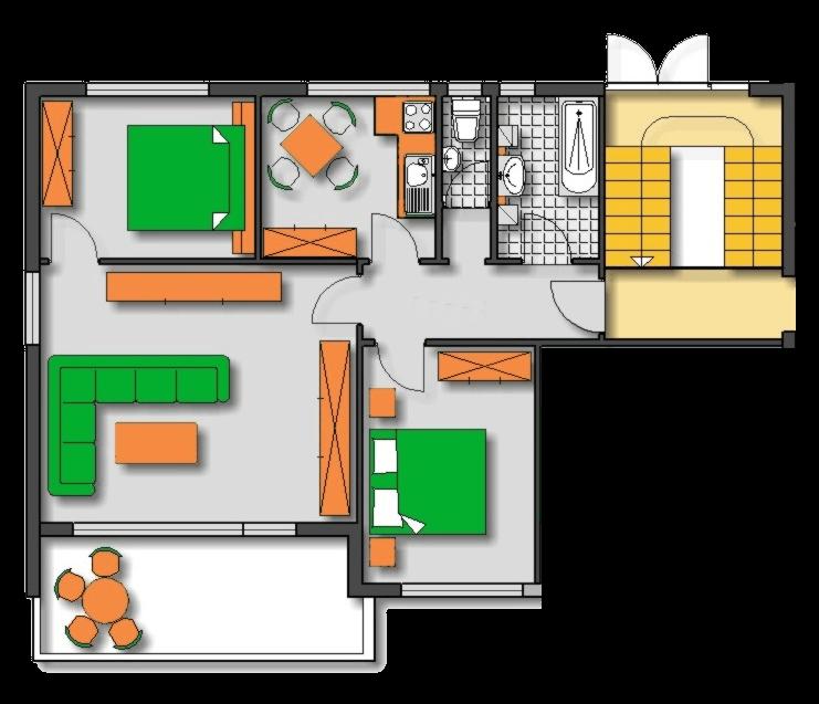 Lageplan Haus 2 Erdgeschoss Ferienwohnung 1