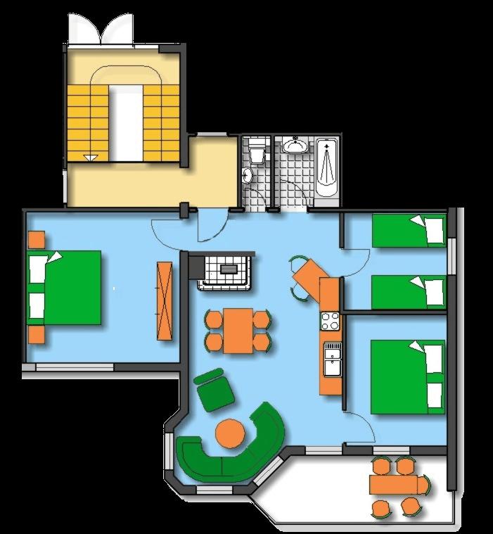 Lageplan Haus 2 Erdgeschoss Ferienwohnung 2