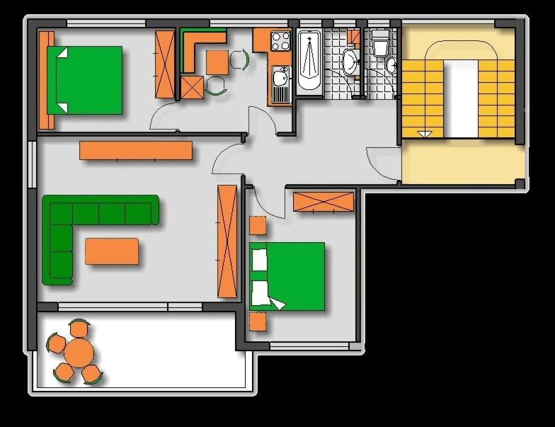 Lageplan Haus 2 Obergeschoss Ferienwohnung 4