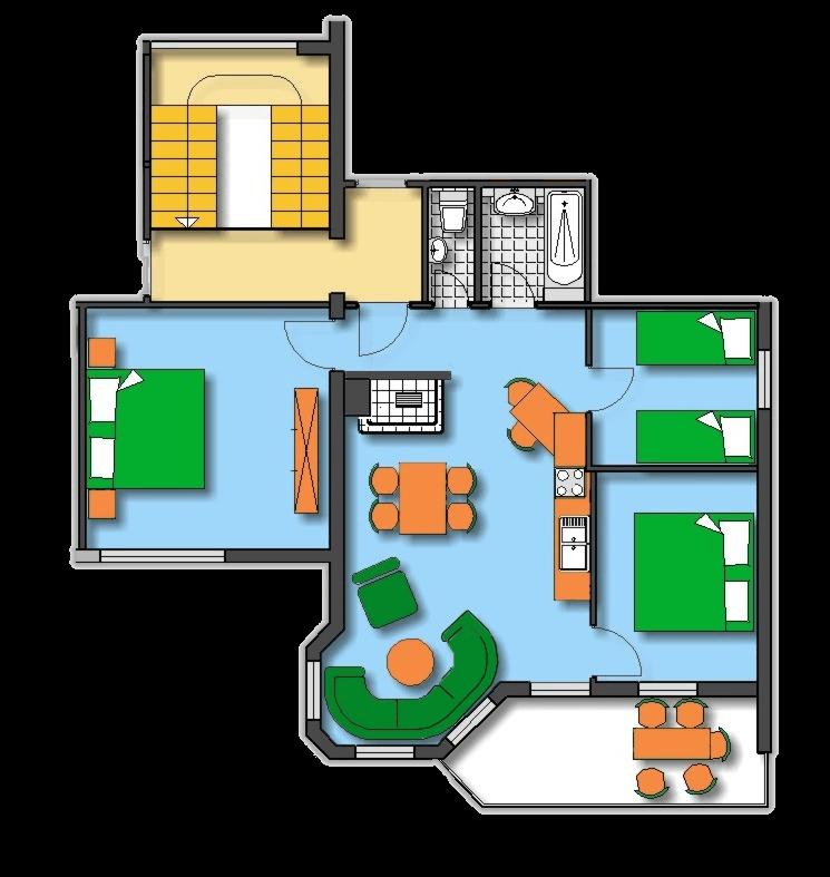 Lageplan Haus 2 Obergeschoss Ferienwohnung 5