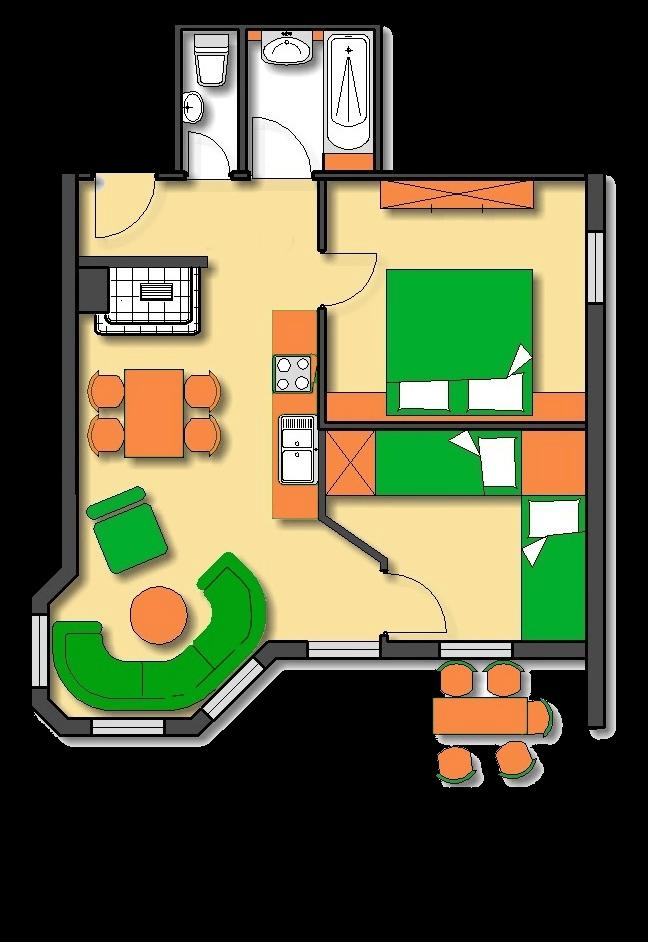 Lageplan Haus 2 Untergeschoss Ferienwohnung 20