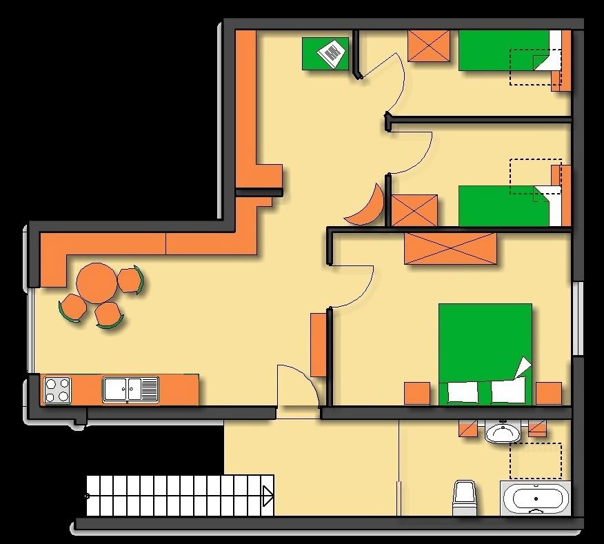 Lageplan Haus 3 Dachgeschoss Ferienwohnung 11