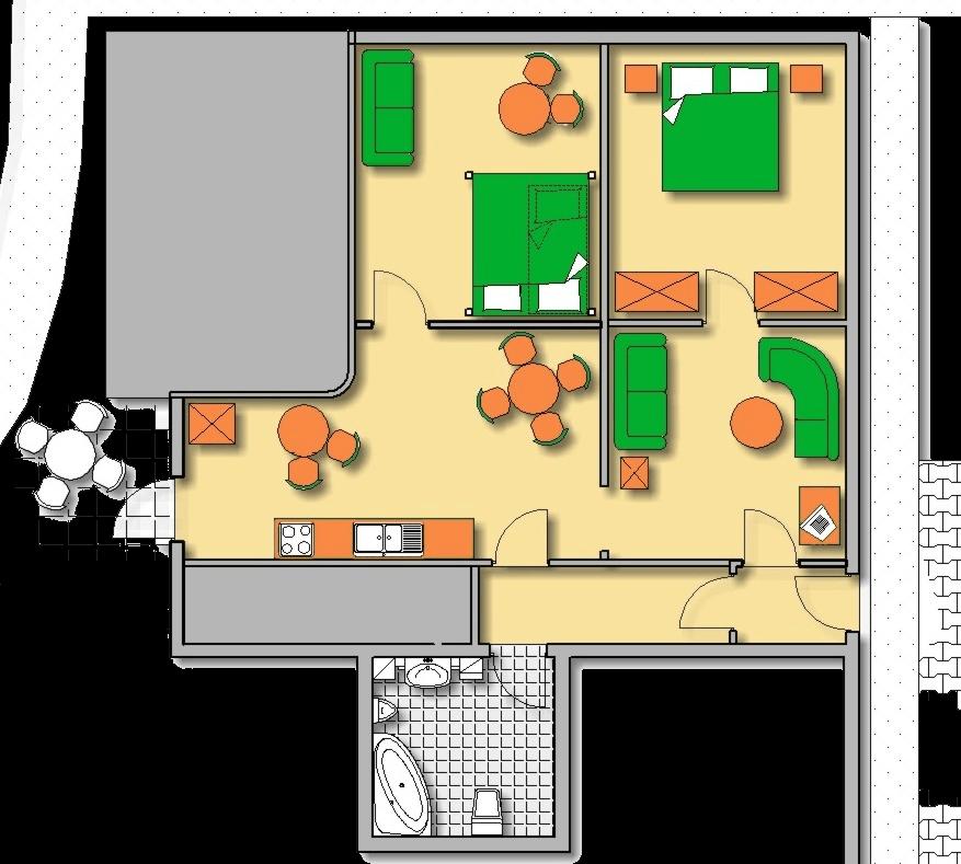 Lageplan Haus 3 Erdgeschoss Ferienwohnung 10
