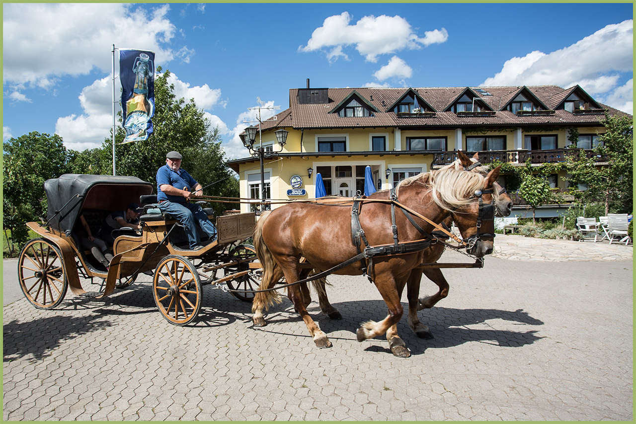 Historische Kutsche für Rundfahrten