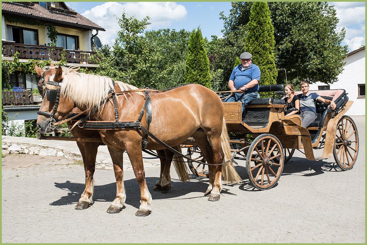 Vor der Ausfahrt mit der historischen Kutsche