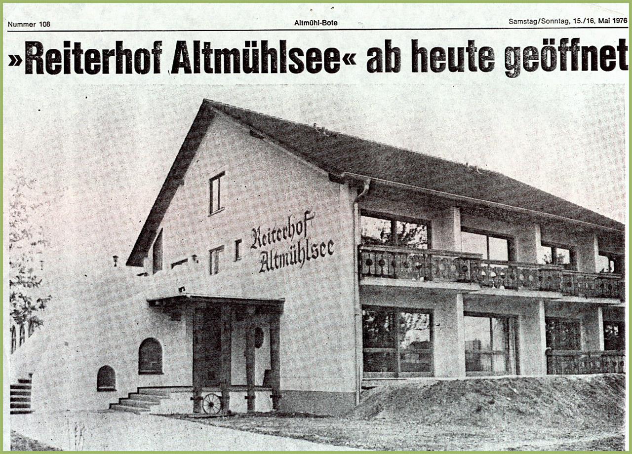 Reiterhof Altmühlsee - Ab heute geöffnet!